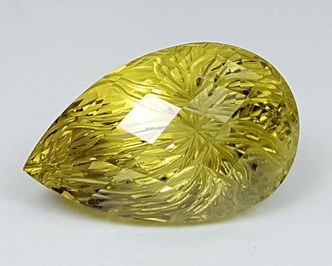 14.95CT LEMON QUARTZ CONCAVE CUT IGCCV09