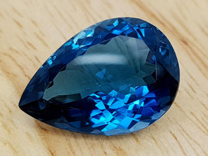 15.26CT LONDON BLUE TOPAZ GEMSTONE IGCLBT23