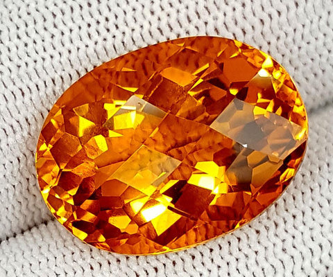 27CT MADEIRA CITRINE TOP CUT STONES IGCNMC04
