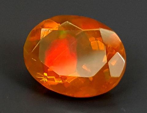 1.35CT FACETED OPAL HIGH FIRE STONE IGCOP10
