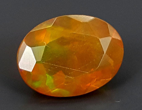 0.89CT FACETED OPAL HIGH FIRE STONE IGCOP11