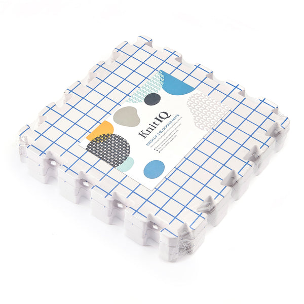 KnitIQ 3 Extra Blocking Boards Extension Kit with Inch Grid