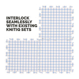 KnitIQ 3 Extra Blocking Boards to Increase Layout for Larger Knitting, Crochet, Needlepoint and Lace Projects