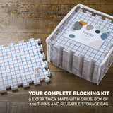 KnitIQ Extra Thick Blocking Boards with Grids