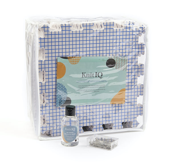 KnitIQ Centimetre Mats Bundle with 4 oz No Rinse Delicate Wash