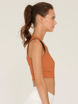 Essential Crop Top in Saffron