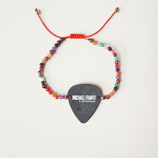 Nylon Black Guitar Pick Bracelet (various)