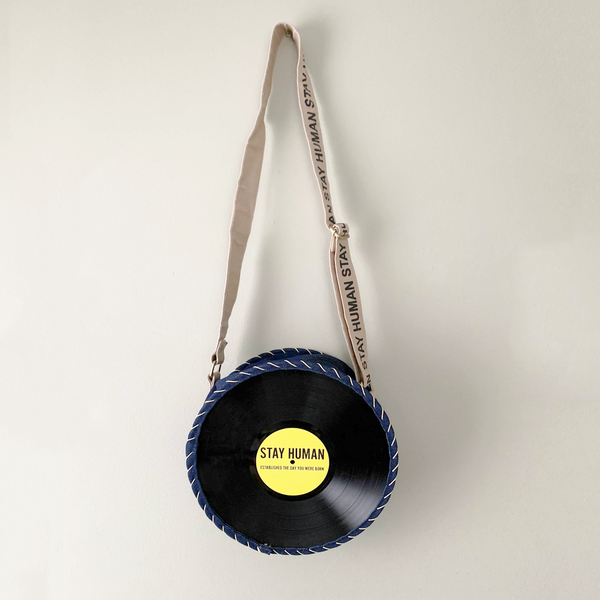 Handmade In Bali Vinyl Record Bag
