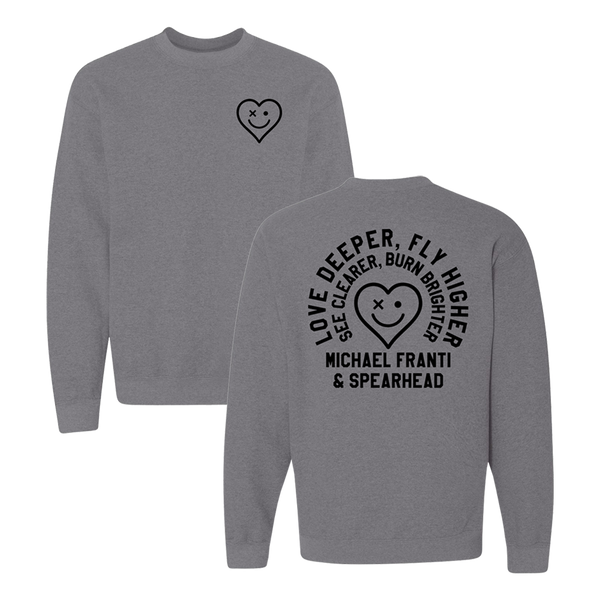 Love Deeper Graphite Crewneck