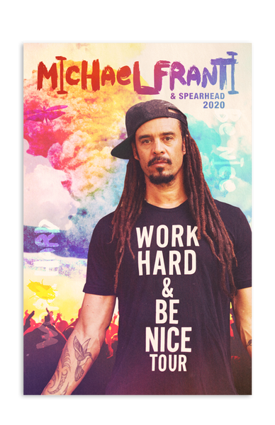 Work Hard & Be Nice Poster