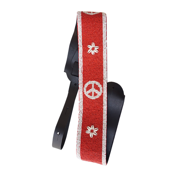 Shell & Peace Sign Guitar Strap