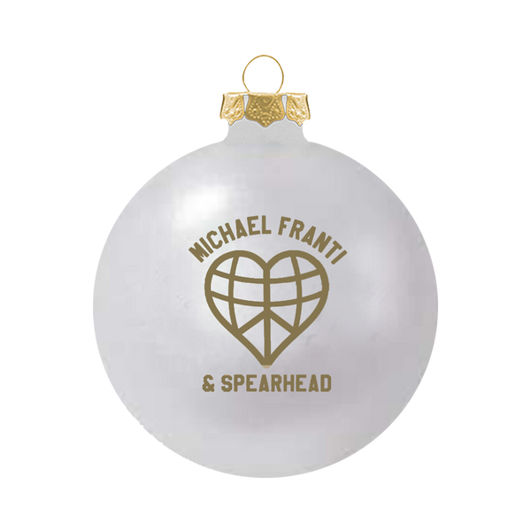 White Heart Ornament