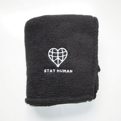 Stay Human Fleece Blanket