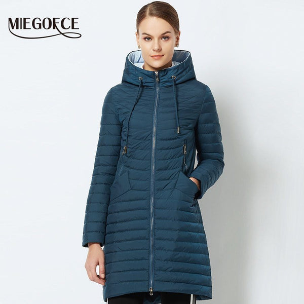 Spring Women's Parka Coat Women's Windproof Thin Cotton Jacket winter weather