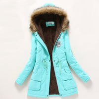 Winter Coat Women New Parka Casual Outwear Military Hooded Thick warm jacket