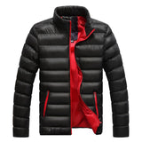Winter Warm Down Coat Men Long Sleeve Stand Collar Soft Warm Jacket Casual