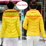 2018 Winter Jacket women Plus Size Womens Parkas Thicken Outerwear solid hooded
