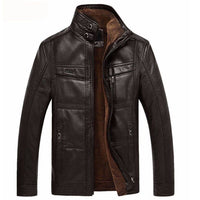 Leather Jacket Men Coats 5XL Brand High Quality PU Outerwear Men