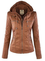 Gothic faux leather Jacket Women jkt2
