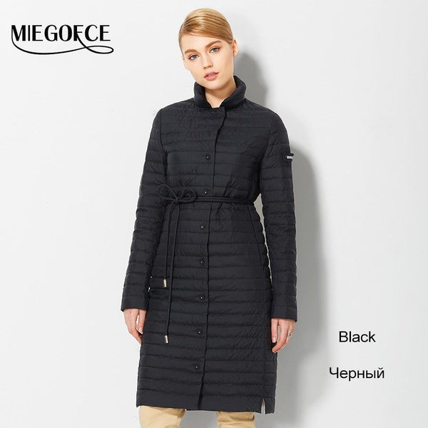 Thin Women Quilted Parkas Long Women Cotton Padded Jacket  jkt2
