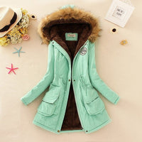 Winter Coat Women New Parka Casual Outwear Military Hooded Thick warm jacket jkt2