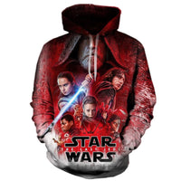 Star War 3D Hoodie Print Sweatshirt Women Men Sweatsuits hood