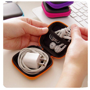 Storage Bag Case For Earphone EVA Headphone Case Container Cable Earbuds Storage Box Pouch cas1