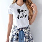Mama NEEDS Wine t shirt Women's slogan funny goth vintage tops shirt mom gift tee2