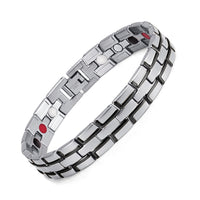 Healing Magnetic Bracelet Men/Woman 316L Stainless Steel 3 Health Care Elements(Magnetic,FIR,Germanium) Gold Bracelet Hand Chain