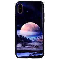 Colors For iPhone X Case Exquisite Tempered Glass Phone Cover cas1