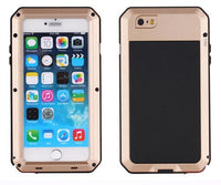 AKASO Full Cover Luxury Rugged Armor Shockproof Metal Aluminum Case for iPhone 7 6 6s Plus +Tempered glass cas1