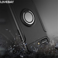 Lovebay Phone Case For iPhone 7 7 Plus Magnetic Suction Shockproof Metal Ring Hard PC And TPU For iPhone 7 Phone Case Cover Bags