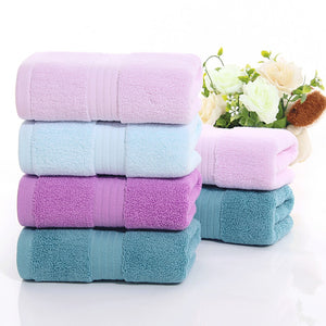2017 New Soft Cotton Face Flower Towel Bamboo Fiber Quick Dry Towel Cotton thick plain Wash face Water absorption cleaning towel