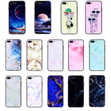 Colors For iPhone X Case Creative painting Exquisite Tempered Glass Hard Slim Starry Sky Pattern Case Cover 5.8 inch Phone Cover