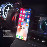 car qi fast wireless charger wireless cell phone fast charge wireless charging stand for iphone x 8 samsung galaxy s8 s7 edge