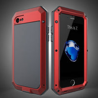 Luxury Metal Military Shockproof Dustproof Silicone Case Armor Shockproof Metal Aluminum Case for iPhone 5S 6 6s 7 7plus