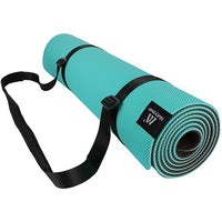 Matymats Pro Yoga Mat High Density Non Slip 100% TPE Pilates Workout Mats with Carrying Strap 72 x 24 1/4 (6mm) Thickness