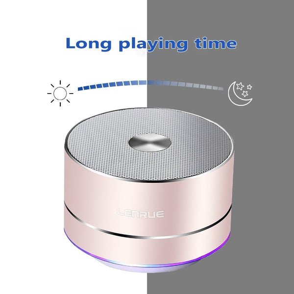 LENRUE Portable Wireless Bluetooth Speaker Stereo Portable Led Speakers with Built Mic MP3 MINI Subwoofer Loudspeaker spe1