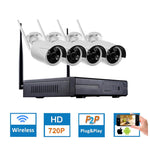 Hiseeu 4CH CCTV System Wireless 960P NVR WIFI IP Bullet Camera Home Security System Surveillance Kit EU Plug