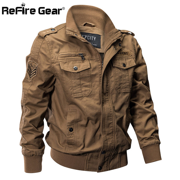 Military Pilot Jackets Men Winter Autumn Bomber Cotton Coat Tactical Army Jacket Male Casual Air Force Flight Jacket  jkt1