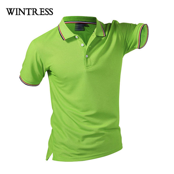 Summer Cotton Fitness Men Polo Shirt Short Sleeve Contrast Color tsh1