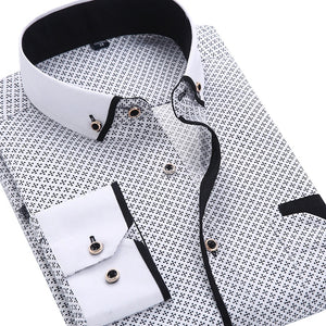 Men shirt Slim Fit Male Men Clothing Soft shi1