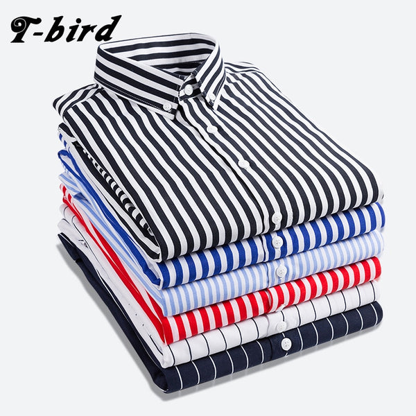Shirt Men Striped Long Sleeves Mens Dress Shirts Camisa Masculina Spring Summer Casual Male Shi1