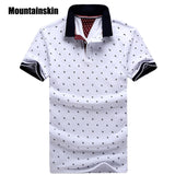 Mens Printed POLO Shirts Cotton Short Sleeve Camisas Polo Casual tsh1