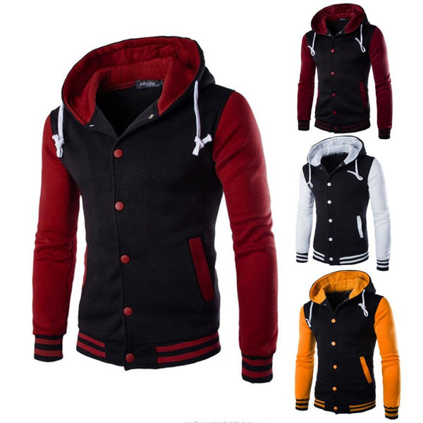 Men's Jacket Fashion  Cotton Blended  Outerwear & Coats  Sweater Warm Hooded Jackets  jaqueta masculina  jkt1
