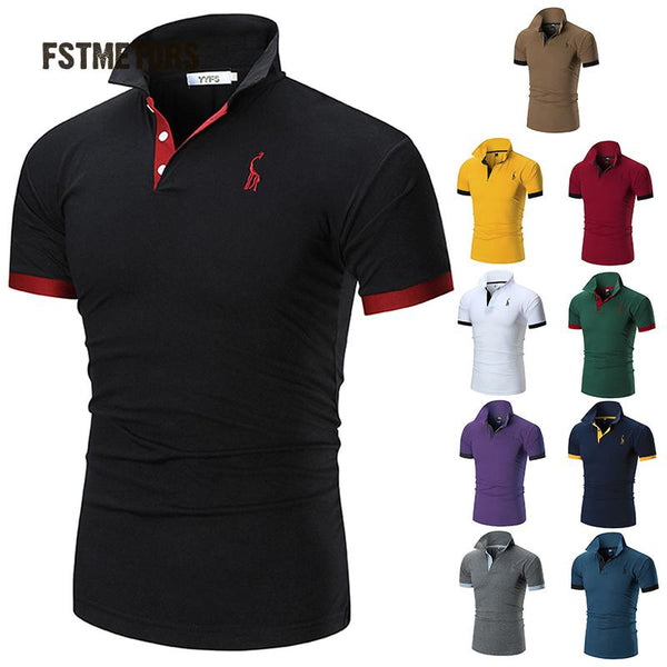 Mens Polo Shirt Brands Male Short Sleeve Casual Slim Solid Color tsh1