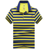 High quality brand men polo shirt new summer casual striped cotton tsh1