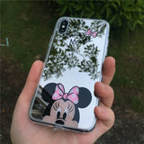 Minnie Mouse Silicone Case for iPhone 6s plus Case  Mickey Cover for iPhone X Xr Xs Max 7 8 Plus 5 5s SE Cases cas1