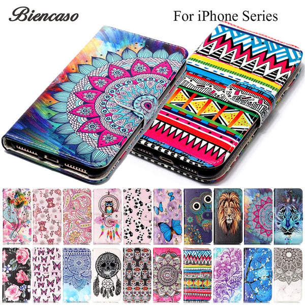Flip Leather Wallet Cover For Samsung Galaxy S8 S9 Plus Case For iPhone XS Max 5S SE 6S 7 8 Plus X Funda For cas1