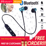 Magnetic attraction Bluetooth Earphone Headset waterproof sports 4.2 with Charging Cable Young Earphone acc1